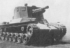 "Type 1 105mm SPH ""Ho-Ni II"" Introduced Year : 1942 Weight : 14.77 ton Dimensions: 5.52 x 2.33 x 2.39(h) m Armor (max) : 25 mm Speed (max) : 38 km/hr Engine : Diesel Engine 170 HP/2000 rpm Armaments : Type 91 105 mm x 1 Crew : 5 Production Qty : 138 (Including Ho-Ni I)"