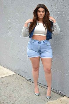 Summer means jorts season, y'all. Embrace the jorts and embrace the denim on denim. 'Tis the season. | 15 Style Tips From Nadia Aboulhosn, Your New Fashion Inspiration