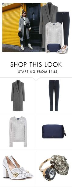 """""""Get the Look"""" by cherieaustin on Polyvore featuring Joseph, AG Adriano Goldschmied, Polo Ralph Lauren, Anya Hindmarch, Gucci and Marni"""