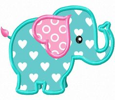 Lil' Elephant Applique Machine Embroidery by HippityHopEmbroidery