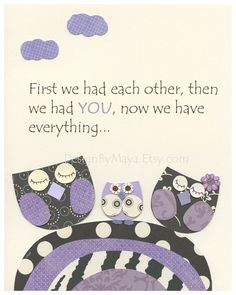 purple owl nursery - Google Search  Quote made me cry!