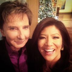 Barry Manilow and Julie Chen on The Talk.