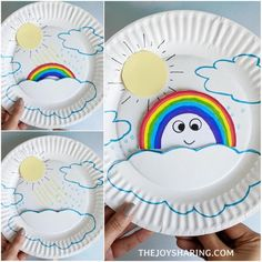 Rainbow Formation Craft via Rainbow Crafts Preschool, Kindergarten Crafts, Paper Plate Crafts For Kids, Fun Crafts, Spring Toddler Crafts, Spring Theme, Butterfly Crafts, Craft Activities For Kids, Projects To Try