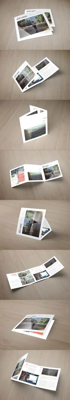 Square Cool Minimal Trifold on Behance