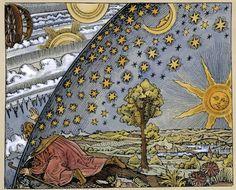 """Esta foto es una copia de un """"grabado en madera del siglo XVI copiado por Camille Flammarion en 1888, en una obra llamada L'Atmosphere: Météorologie Populaire (Paris, 1888), pp. 163 Author Anonimo"""