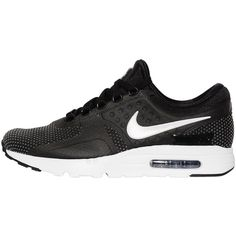 Nike Men Air Max Zero Nylon Sneakers (9,535 PHP) ❤ liked on Polyvore featuring men's fashion, men's shoes, men's sneakers, black, mens sneakers, nike mens sneakers, nike mens shoes, mens shoes and mens black sneakers