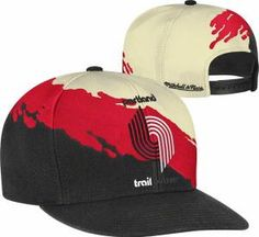 huge discount d6fa0 8acc1 Portland Trail Blazers Mitchell   Ness Cream Hardwood Classics  Paintbrush  Snapback  Hat