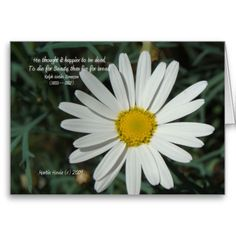 Thanks, Brian (Northridge, CA) for buying the Famous Words: Beauty – White Daisy Card Series #8  Enjoy! -Martie  | http://www.zazzle.com/famous_words_beauty_white_daisy_card_series_8-137590423937681652?type=notecard&view=113404083060829587&rf=238706427652...
