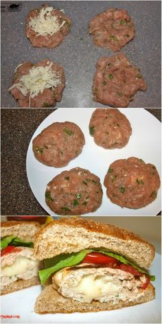 Mozzarella stuffed turkey burgers!! Summer grilling is here and this is an awesome recipe for grilling. Grilled turkey burgers make an easy and healthy weeknight dinner idea.