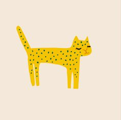 Dotted cat - illustration by Studio Sjoesjoe - Joëlle Wehkamp // prints is available for licensing