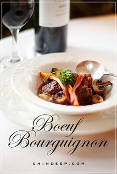 "~Boeuf Bourguignon~ ""Cooking is not a particularly difficult art, and the mor. Beef Recipes, Cooking Recipes, Soup Recipes, Chen, Cuisine Diverse, Beef Dishes, International Recipes, Other Recipes, Soup And Salad"