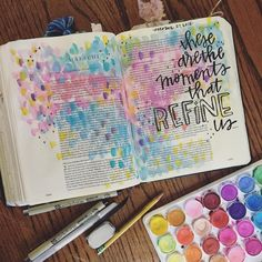 """""""These are the moments that refine us"""" ・・・ """"He will sit as a refiner and purifier of silver, and he will purify the sons of Levi and refine them like gold and silver."""" Malachi This season has been so full of refining moments Scripture Art, Bible Art, Bible Study Journal, Art Journaling, Bible Doodling, Faith Bible, Bible Prayers, Illustrated Faith, Bible Verses Quotes"""