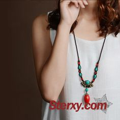 Ethnic Jewelry, Jewellery, Washer Necklace, Beaded Necklace, Turquoise Beads, Agate, Women Accessories, Fashion Jewelry, Schmuck