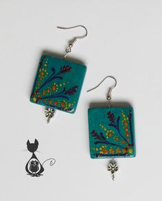 2 sets of original hand drawn earrings by KykyMiay on Etsy