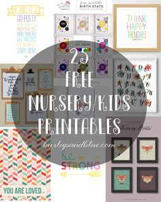 Free printable art for kids! Nursery printables, initial printables and more to decorate your child's bedroom. A couple of years ago, I did a post sharing 50 of my favorite free printables.