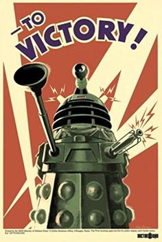 Doctor Who Dalek To Victory TV Poster Print @ niftywarehouse.com
