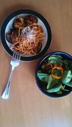 ミートローフでスパゲティ