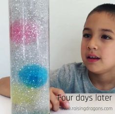 Calm Down Sensory Bottle  ages 3+  We have been excited to make a sensory bottle and wanted to give it our own twist so we decided to add giant water beads! Materials Needed: (Affiliate links) Giant Water Beads Voss Water Bottle Elmer's Clear Glue White & Silver Glitter Super Glue To make this …