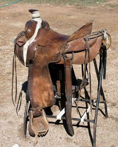 "15"" Handmade Garry Rowland Seat Rig Saddle Good Condition ..."
