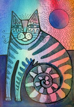 Original paintings of cats by Karin Zeller