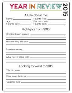 2015 year in review printable from wwwthirtyhandmadedayscom new years activities activities