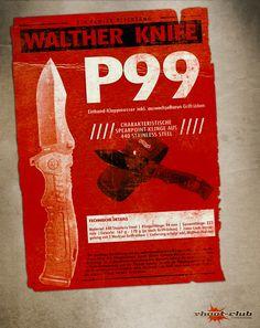 Walther Knife P99 Einhand-Klappmesser m. wechselbaren Griffrücken #shootclub #outdoor #messer #knife   www.shoot-club.de