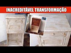 Pintura de Móveis - Uma transformação INACREDITÁVEL - YouTube Diy Videos, Chalk Paint, Youtube, Home Decor, Craft Tables, Painting Furniture, Diy, Woodworking, Home