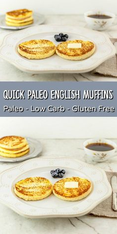 Quick Paleo English Muffins- The best and original paleo low carb English muffin.