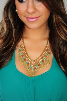 Show Some Love Necklace: Gold/Multi