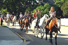 Mackinac Island, MI.  I loved horseback riding and riding bikes around the island! I want to go back! everyone should visit at least once!