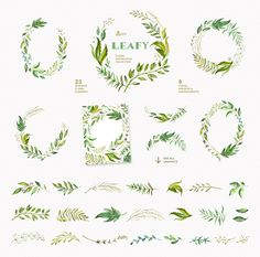 Leafy. Watercolor floral collection - Illustrations - 2