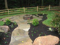 Woodland Backyard Backyard Landscaping Surrounds Landscape ...
