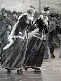 Women Ice Skating in 1895, by an English Illustrator