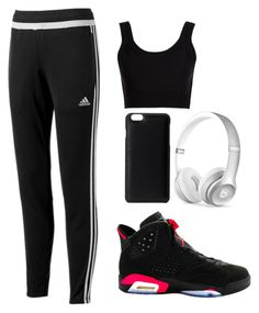 """How To Wear Air Jordan Retro 6"" by lowkeyyfashion on Polyvore featuring adidas, NIKE, Calvin Klein Collection, Knomo and Beats by Dr. Dre"