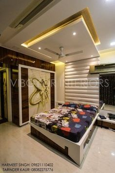 Master Bedroom Ceiling Designs Mesmerizing Plafond Moderne Dans La Chambre À Coucher Et Le Salon Design Decoration