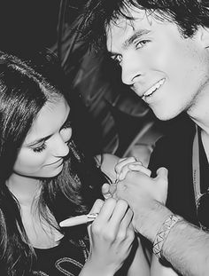 """when she wrote """"#teamkatherine"""" on ian's hand and """"#teamelena"""" on paul's =-("""
