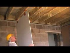 ▶ How to Fit Plasterboard to Ceilings. The Easy Way To Hang and Attach Drywall / Ceiling Boards - YouTube