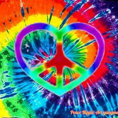 Tie Dye Peace Sign Art....