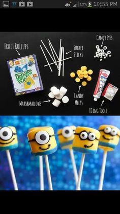 DIY minion suckers!! Cute idea for kids to do as a project!