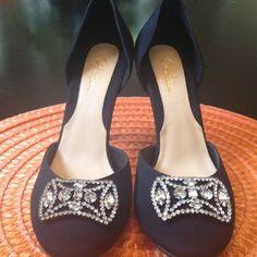 Cole Haan Black Pumps, New never worn 21/2 inch heel 7.5 sz Black with Crystals ladies shoe Cole Haan Shoes Heels