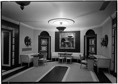 Carlyle Hotel lounge, 1937. Designed by Dorothy Draper