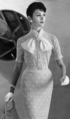 1950's pencil wiggle dress, knitting pattern