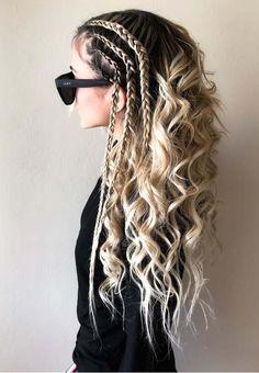 55 Unique Undone Textured Braided Curls in 2018