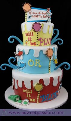 Gender Reveal Cakes are awesome! Click for ideas on unique cakes as well as easy homemade cakes that will amaze everyone. Also included are DIY videos and cake sayings for gender reveal cakes. Pin it. #genderrevealcake #babyshower #genderreveal Baby Shower Cake Sayings, Baby Shower Cakes, Gender Reveal Cakes, Baby Reveal Cakes, Twin Gender Reveal, Baby Gender Reveal Party, Gender Party, Gender Reveal For Twins Ideas, Disney Gender Reveal