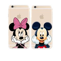 >> Click to Buy << Hot New Cute Mickey Mouse Mickey and Minnie Hard Cover Case For apple iPhone 5 5S SE 5C 6 6S 7 Plus 6S Plus Transparent Case #Affiliate