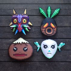 Majoras masks by pappasparlor. Top left one is allll mine :D