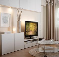 your with the BESTÅ TV storage combination that suits your space! Ikea Living Room Storage, Living Room Tv, Apartment Living, Ikea Tv Unit, Design Ikea, Tv Storage, Record Storage, Media Storage, Storage Ideas