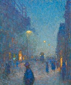 Kveld i London by Emile Claus