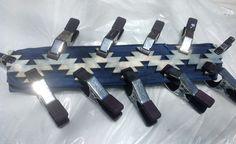Indigo Itajime Shibori silk cotton scarf - Panacea Textiles available on etsy