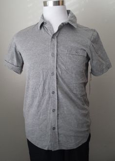Seven 7 short sleeve #casual men size S gray color cotton shirt NWT visit our ebay store at  http://stores.ebay.com/esquirestore
